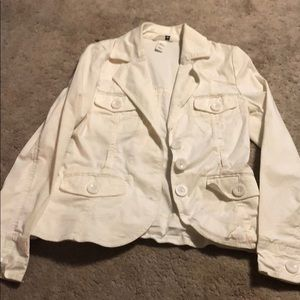 White h and m spring jacket